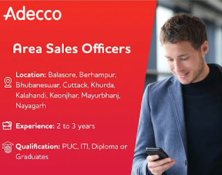 ITI, Diploma, PUC or Graduates Pass out Requirement for Area Sales Officers in Balasore, Berhampur, Bhubaneswar, Cuttack, and More Odisha Locations