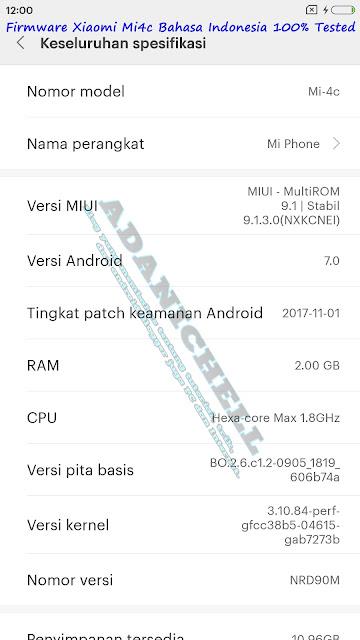 Firmware Xiaomi Mi4c Bahasa Indonesia