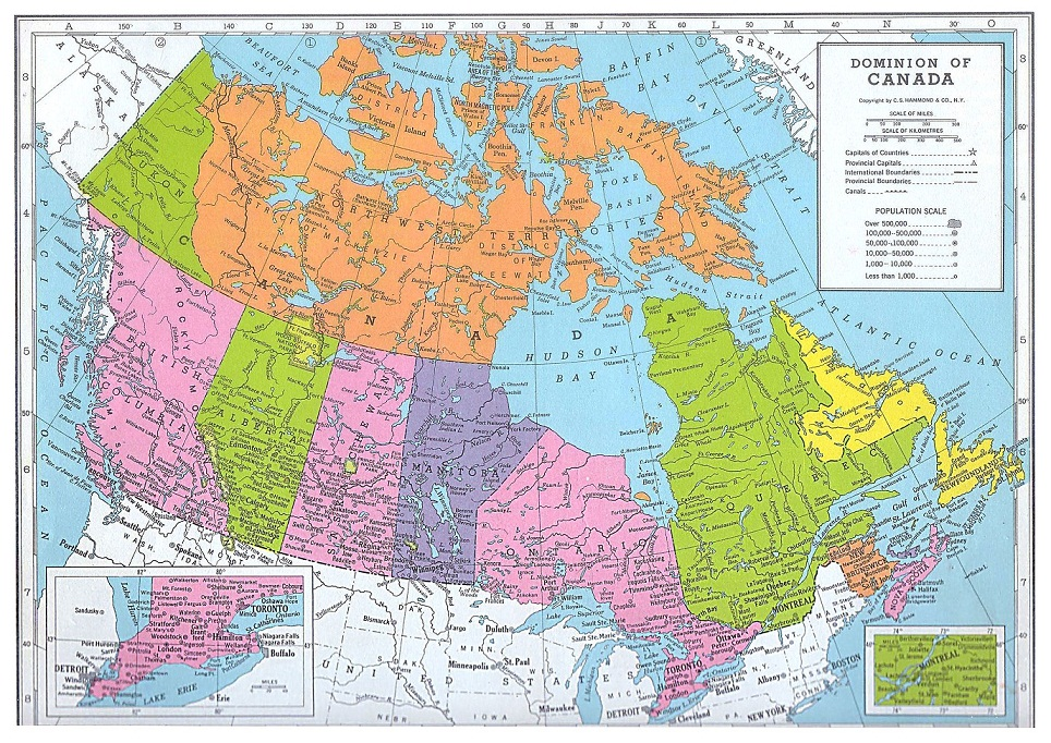 Map Of Cities Of Canada.Canada Map Political City Map Of Canada City Geography