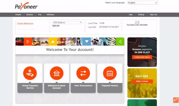 How to get a Payoneer account in Kenya