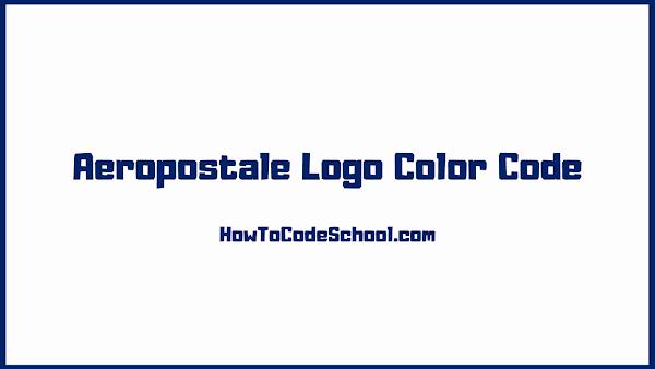 Aeropostale Logo Color Code