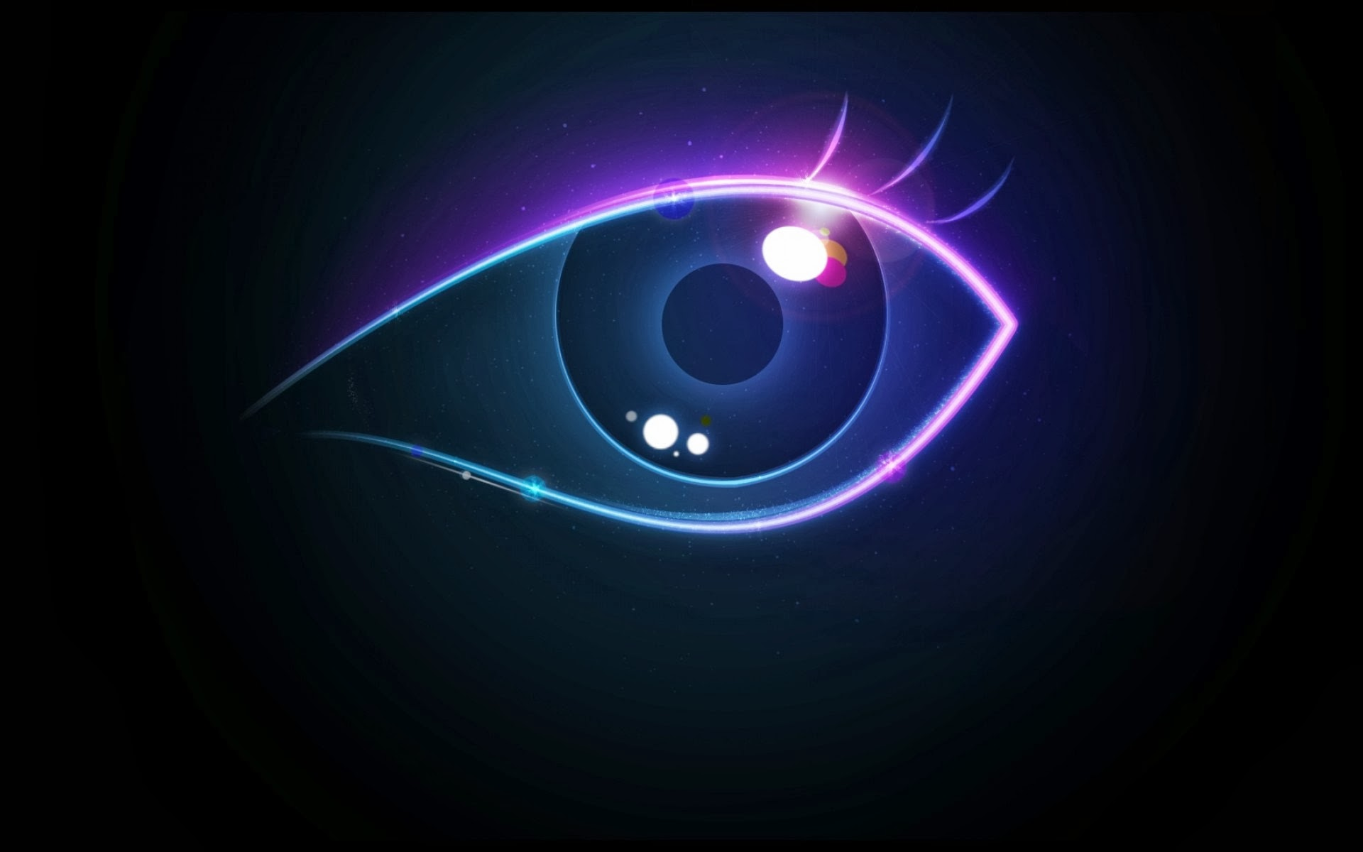 abstract neon eyes - photo #1
