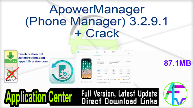ApowerManager (Phone Manager) 3.2.9.1 + Crack