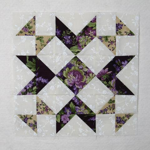 Wedding Bouquet Quilt Block designed by Elaine Huff of Fabric406