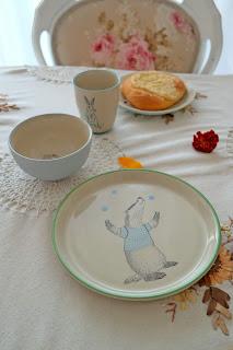 ceramiczny talerz dla dziecka