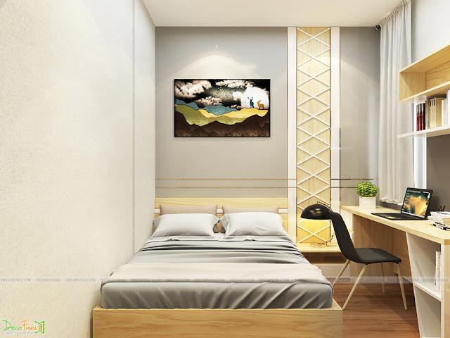 Nội thất phòng ngủ chung cư 65m2 - 2 phòng ngủ