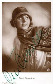 Ossi Oswalda Autograph