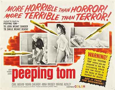 Poster de la película Peeping Tom 1960, El Fotógrafo del Pánico
