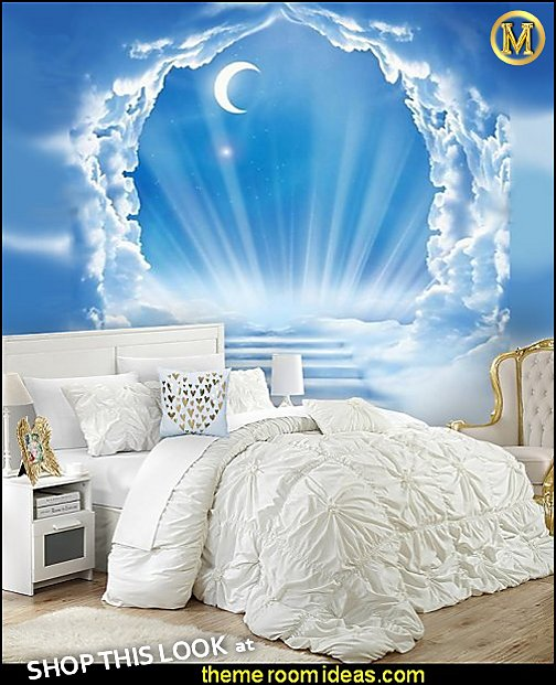 angel bedrooms decor heaven  bedrooms decorating white bedding ruched bedding heaven murals angel bedrooms clouds heaven murals white bedding angel bedrooms decor mythology theme bedrooms - greek theme room - roman theme rooms - angelic heavenly realm theme decorating ideas - Greek Mythology Decorations -  angel wall lights - angel wings decor - angel theme bedroom ideas - greek mythology decorating ideas - Ancient Greek Corinthian Column - Spartan Warrior Gladiators - Greek gods - Angel themed baby room - angel decor - cloud murals - heaven murals - angel murals - ethereal heavenly style