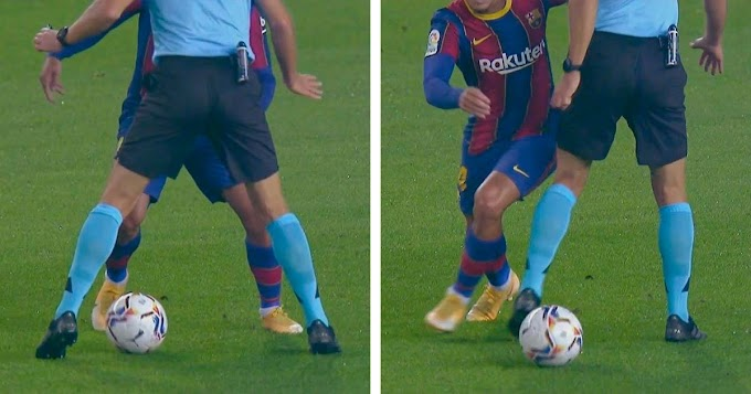 Video: Coutinho nutmegs referee in Barcelona vs  Villarreal game