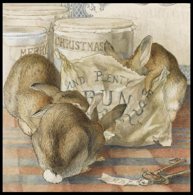 Beatrix Potter Christmas card dating from about 1893