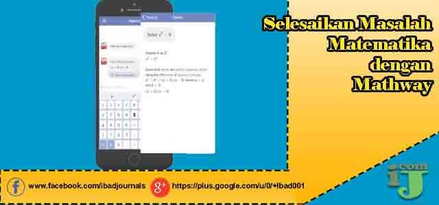 Selesaikan Masalah Matematika dengan Mathway