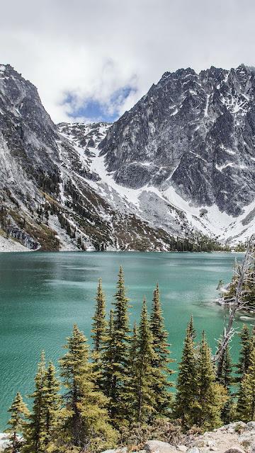 Nature, mountains, landscape, lake, trees