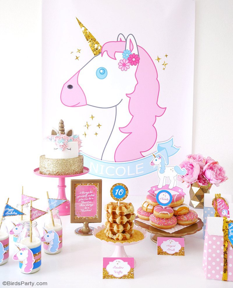 my daughter s unicorn birthday slumber party party ideas party