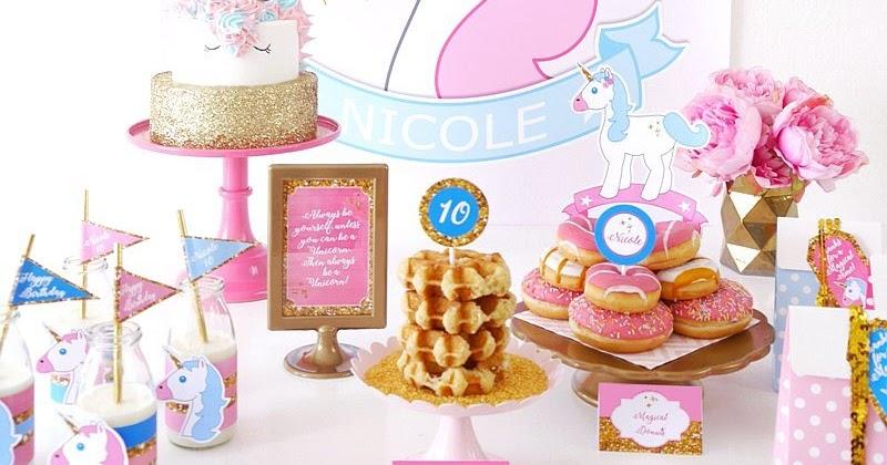 My Daughters Unicorn Birthday Slumber Party Party Ideas
