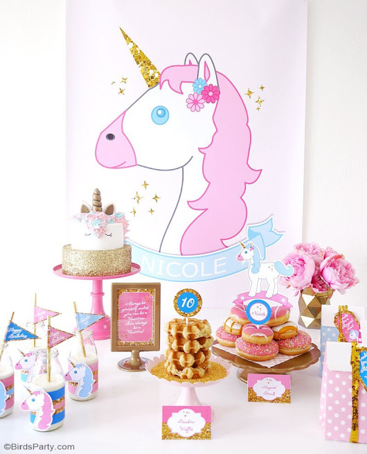 My Daughter's Unicorn Birthday Slumber Party | Party Ideas | Party Printables