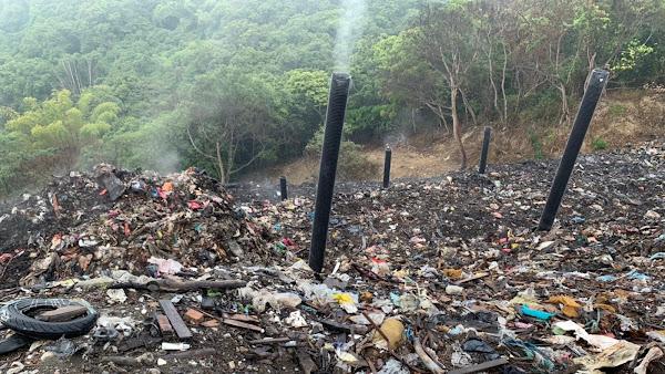 員林市阿寶坑垃圾場不再悶燒 黃秀芳現勘改善情形