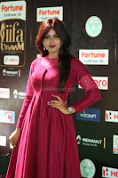 Monal Gajjar in Maroon Gown Stunning Cute Beauty at IIFA Utsavam Awards 2017 074.JPG