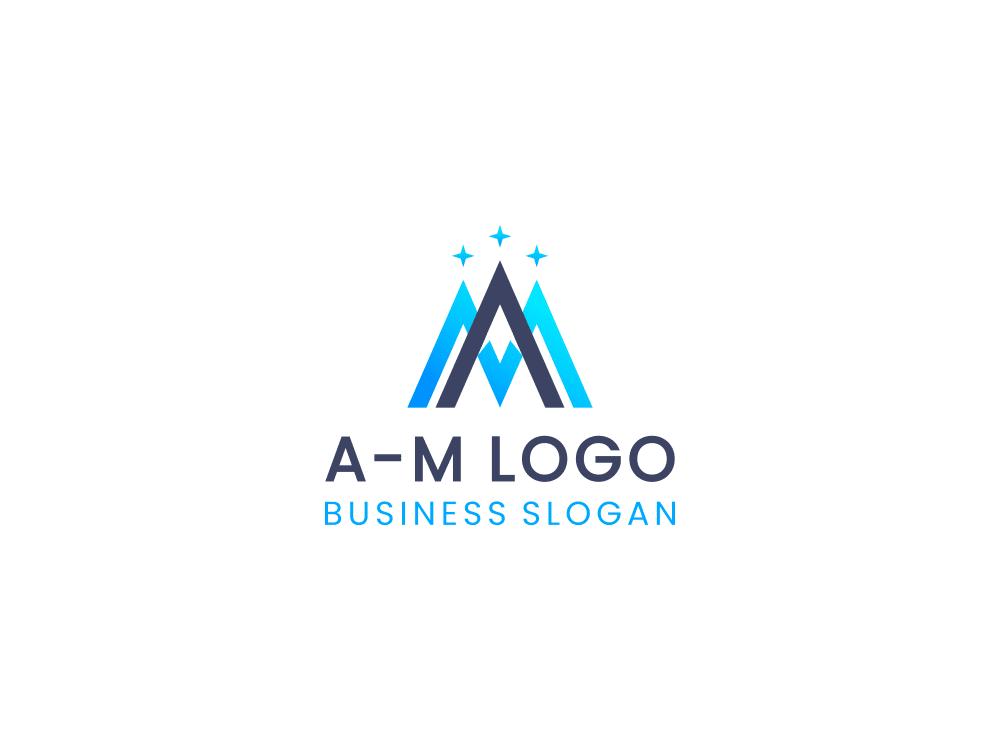 Free logo mountain peak on white background