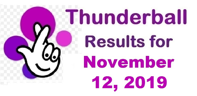 Thunderball Results for Tuesday, November 12, 2019