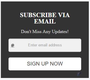 Black Blogger Subscription Box Widget