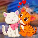 G4K Lovely Couple Cats Escape