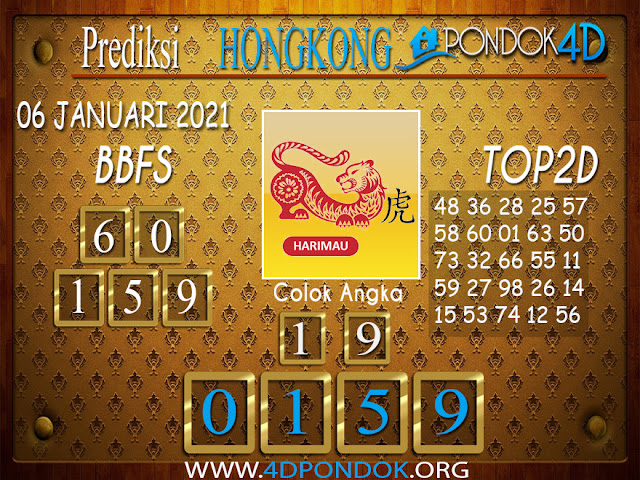 Prediksi Togel HONGKONG PONDOK4D 06 JANUARI 2021