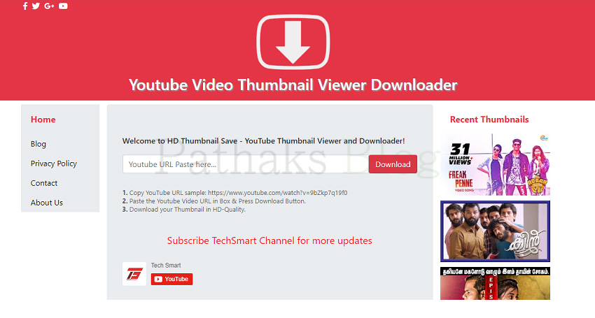 Youtube Video Thumbnail Viewer Downloader, pathaks blog, anil pathak