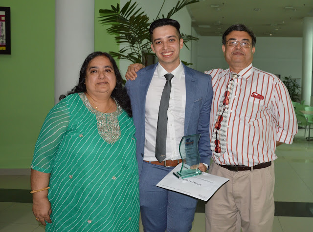 Proud parents of Auleep Ganguly, winner of the IMU Aflame Student Award 2016.