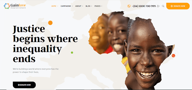 Nonprofit Fundraising & Charity WordPress Themes With Donation System    GainLove