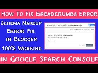 How to fix Breadcrumbs Error in blogger