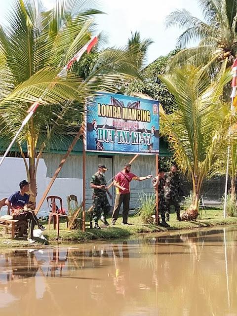 Meriahkan HUT TNI Ke 75, Kodim 1011/ Klk Gelar Lomba Mancing