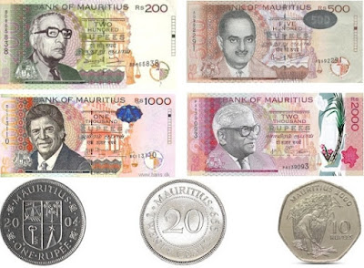 Countries and Currency Mauritian rupee