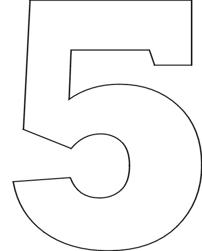 Number 4 Template. 6 colouring pages page 2. images. best photos ...