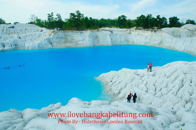 objek wisata Danau kaolin toboali kabupaten Bangka Selatan