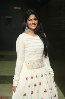 Megha Akash in beautiful White Anarkali Dress at Pre release function of Movie LIE ~ Celebrities Galleries 043.JPG