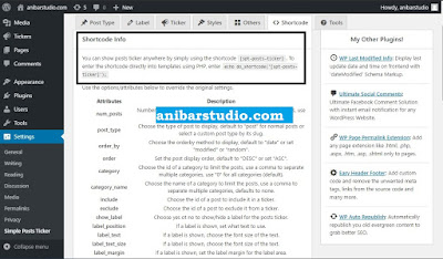 Cara Membuat News Tickers di Website Wordpress