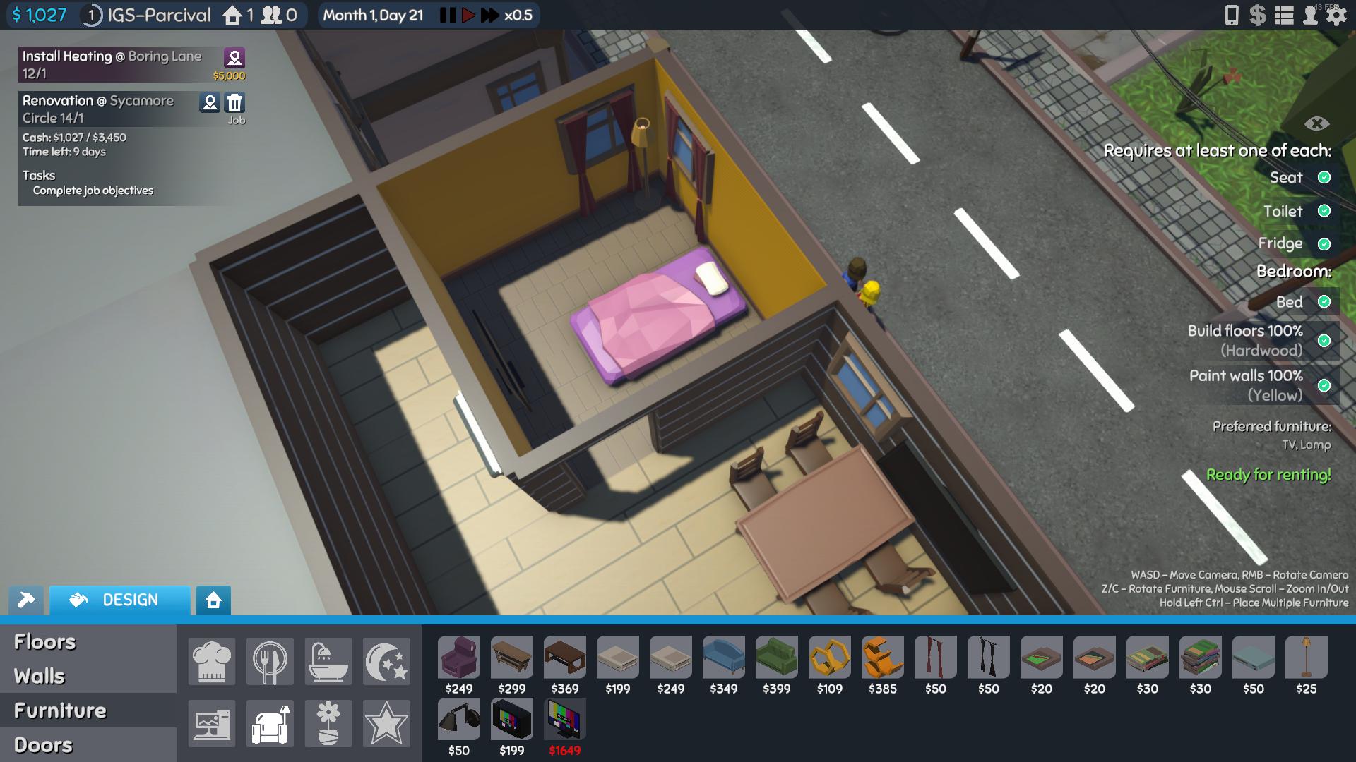 The Tenants Bedroom Design