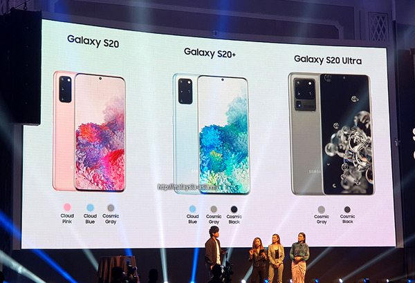 Malaysia Galaxy S20 Ultra Colours