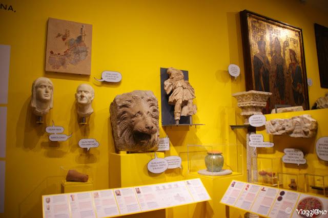 Interno del Museo di Storia della città di Barcellona