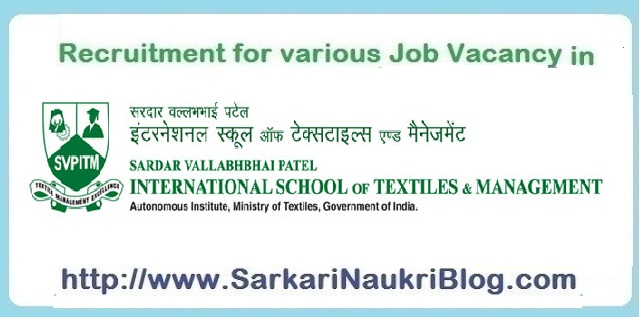 Naukri Vacancy Recruitment SVP-ISTM Coimbatore