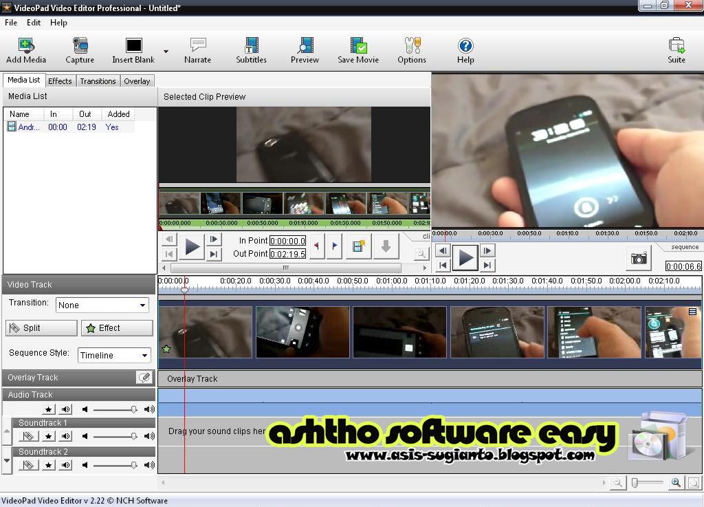 videopad video editor 2.22