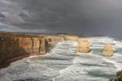 The southern Australia coastline.