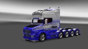 Superblue skin for Scania T EXC Topline