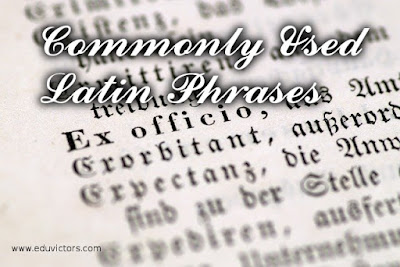 English Grammar - Commonly Used Latin Phrases You Must Know (#cbsenotes)