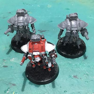 Adeptus Titanicus Questoris Knights from House Taranis WIP
