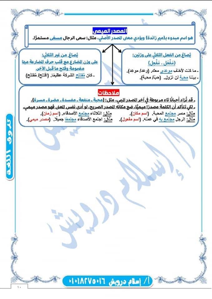ملخص نحو الصف الثانى الثانوى نظام جديد 2020 أ/ اسلام درويش 10