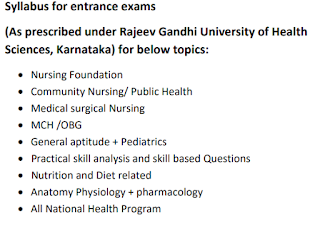 NHM Karnataka BSc Graduate Nurse MHLPs Exam Syllabus and Pattern