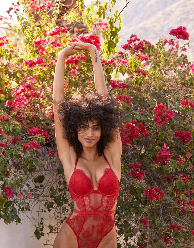 Imaan Hammam stars in Victoria's Secret Valentine's Day 2021 campaign.