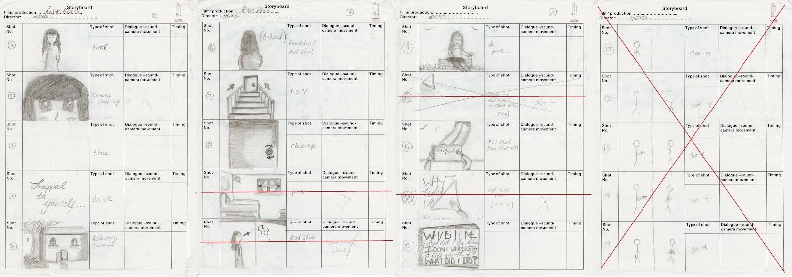 Inderpreet Gill A2 Media Blog: Storyboard